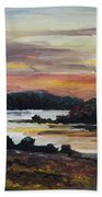 After Sunset At Lake Fleesensee Bath Towel