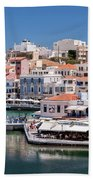 Agios Nikolaos Lagoon Entrance Bath Towel