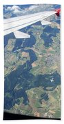 Air Berlin Over Switzerland Hand Towel by Travel Pics