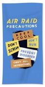 Air Raid Precautions - Ww2 Bath Towel