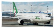 Airbus A330 Alitalia With New Livery  Hand Towel