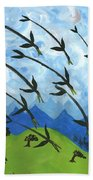 Airy Eight Of Wands Illustrated Bath Towel