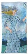 Airy Queen Of Wands Bath Towel