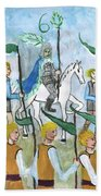 Airy Six Of Wands Illustrated Hand Towel