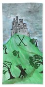 Airy Ten Of Wands Illustrated Bath Towel