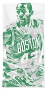 Al Horford Boston Celtics Pixel Art 6 Bath Towel