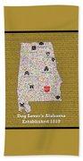 Alabama Loves Dogs Bath Towel