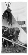 Alaska: Tepee, C1916 Bath Towel