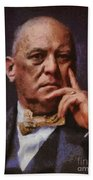 Aleister Crowley, Infamous Occultist Bath Towel
