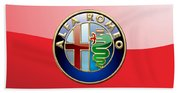 Alfa Romeo - 3d Badge On Red Bath Towel