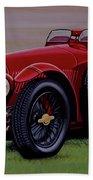Alfa Romeo 8c 2900a Botticella Spider 1936 Painting Bath Towel