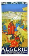 Algeria, Traditional Market, Tourist Advertising Poster Bath Towel