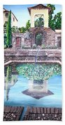 Alhambra Spain Reflections Bath Towel