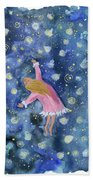 Alice Flying Inthe Night Sky Bath Towel