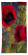 Alicias Poppies Bath Towel