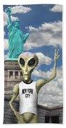 Alien Vacation - New York City Hand Towel
