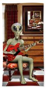 Alien Vacation - We Roll With Jazz Bath Towel