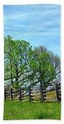 All Fenced In Along The Blue Ridge Parkway Bath Sheet by Kerri Farley