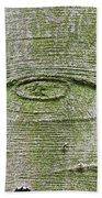 All-seeing Eye Of God On A Tree Bark Bath Towel