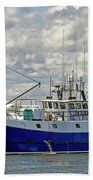 Cloudy Day On The Marina Bath Towel