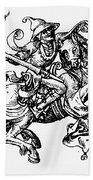 Allegory Of Saturn, 1480 Bath Towel