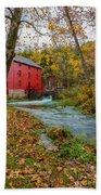 Alley Mill In Autumn Bath Towel