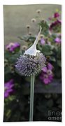 Allium Blossom With Cap Bath Towel