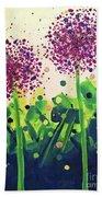 Allium Explosion Bath Towel