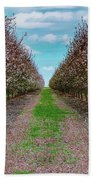 Almond Trees Of Button Willow Bath Towel