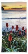 Aloe Vera In Flower At The Seaside Bath Towel