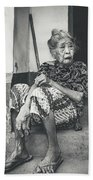 Balinese Old Woman Bath Towel