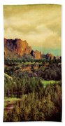 Along The Crooked River Hand Towel