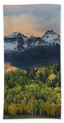 San Juan Mountains Fall Colors Sunrise Bath Towel