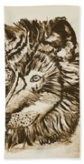 Alpha Male - The Wolf - Antiqued Bath Towel