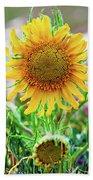 Alpine Sunflower In Summer Bath Towel