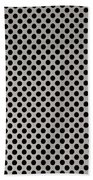 Aluminum Hole Texture Silver Metal Circle Steel Hand Towel