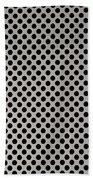 Aluminum Hole Texture Silver Metal Circle Steel Bath Towel