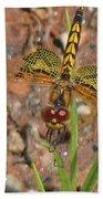 Amanda's Pennant Dragonfly Female Bath Towel