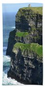 Amazing Look At The Sea Cliff's Of Moher In Ireland Bath Towel