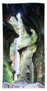 Amazing Vancouver Island Series - Sombrio Cave Waterfall  Inside  Closeup 2. Bath Towel