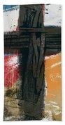 Amen Contemporary Cross- Art By Linda Woods Bath Towel