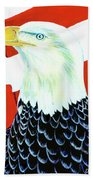 American Bald Eagle Painting #256 Bath Towel