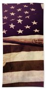 American Baseball Grunge Bath Towel