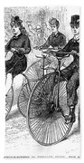 American Bicyclists, 1879 Bath Towel