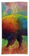 American Buffalo 6 Bath Towel by Hailey E Herrera