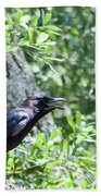 American Crow Bath Towel