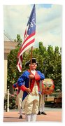 American Fife And Drum Corp Flag Carrier Bath Towel