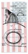 American Firefighter's Helmet Bath Towel