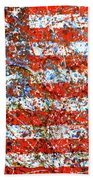 American Flag Abstract 2 With Trees  Bath Towel