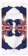 American Flag Polar Coordinate Abstract 1 Bath Towel
